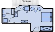 Martje Flors - Appartement 4 - Grundriss